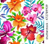 seamless exotic pattern with... | Shutterstock .eps vector #472789939