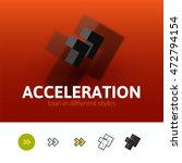 acceleration color icon  vector ...
