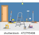 room repair in home. cleaning... | Shutterstock .eps vector #472795408