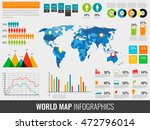 infographic elements with world ... | Shutterstock .eps vector #472796014