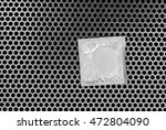 condom surface. silver condom...   Shutterstock . vector #472804090