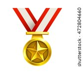 3d gold medal with striped...