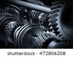 motor  engine close up. gears ...   Shutterstock . vector #472806208