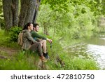 travel  hiking  backpacking ... | Shutterstock . vector #472810750