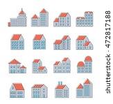set of linear | Shutterstock . vector #472817188