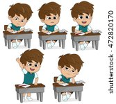 all of kids different pose...   Shutterstock .eps vector #472820170