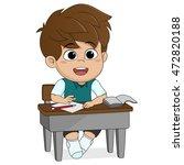 kid learning.back to school...   Shutterstock .eps vector #472820188