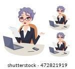 powerful woman in politics...   Shutterstock .eps vector #472821919