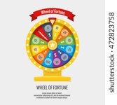 fortune spinning wheel in flat... | Shutterstock .eps vector #472823758