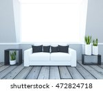 white empty interior with a... | Shutterstock . vector #472824718