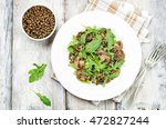 Green Lentils Mushroom Arugula...