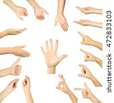 the hand on a white background  ... | Shutterstock . vector #472833103