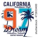 california dream typography  t... | Shutterstock .eps vector #472833400