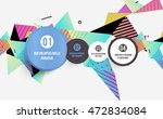 abstract background. geometric... | Shutterstock .eps vector #472834084