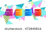 abstract background. geometric... | Shutterstock .eps vector #472840816