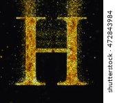 gold letter h   Shutterstock . vector #472843984