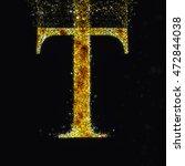 gold letter t   Shutterstock . vector #472844038