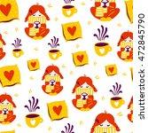 seamless autumn vector pattern... | Shutterstock .eps vector #472845790