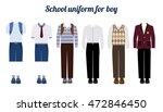 school uniform for boys kit... | Shutterstock .eps vector #472846450