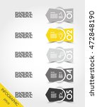 yellow infographic arrows with... | Shutterstock .eps vector #472848190