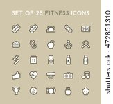 set of solid fitness icons.... | Shutterstock .eps vector #472851310
