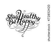 the calligraphic ligature... | Shutterstock .eps vector #472852420