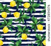lemon vector pattern with... | Shutterstock .eps vector #472854376