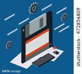 data storage flat isometric... | Shutterstock .eps vector #472856809