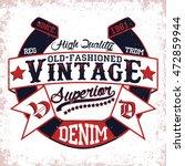 vintage typography emblem ... | Shutterstock .eps vector #472859944