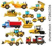 road construction equipment set.... | Shutterstock .eps vector #472861336