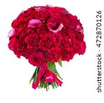 peony roses on white background | Shutterstock . vector #472870126