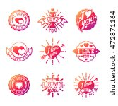 vector i love you photo badges  ... | Shutterstock .eps vector #472871164