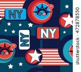 pop art new york pattern | Shutterstock .eps vector #472878550