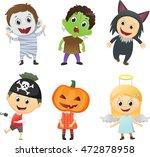 illustration of kids wearing... | Shutterstock .eps vector #472878958