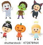 illustration of kids wearing... | Shutterstock . vector #472878964