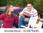 tailgating  friends having... | Shutterstock . vector #472879630