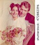 Vintage Photo Of Newlyweds ...