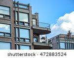 condo buildings with balconies... | Shutterstock . vector #472883524