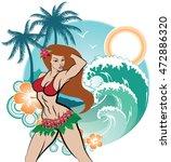 aloha female | Shutterstock .eps vector #472886320