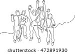 continuous line drawing of... | Shutterstock .eps vector #472891930