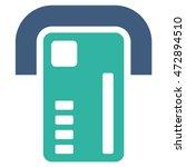 atm machine icon. glyph style... | Shutterstock . vector #472894510