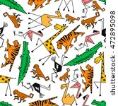 African And Jungle Cartoon...