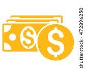 dollar cash icon. vector style... | Shutterstock .eps vector #472896250