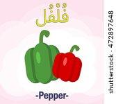 vector arabic alphabet... | Shutterstock .eps vector #472897648