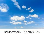 white fluffy clouds in the sky | Shutterstock . vector #472899178
