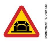 sweden tunnel ahead sign   Shutterstock .eps vector #472905430
