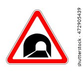 Russia Tunnel Ahead Sign