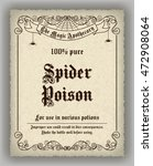 halloween apothecary label in... | Shutterstock . vector #472908064
