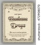 halloween apothecary label in... | Shutterstock . vector #472908070