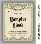 halloween apothecary label in... | Shutterstock . vector #472908190